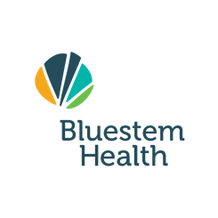 Bluestem Health logo. A 123 Connect with Me Partner.