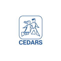Cedars logo. A 123 Connect with Me Partner.